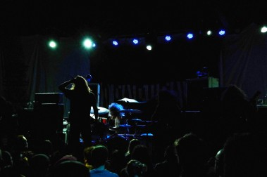 Inter Arma brought forth their genre-blending sludge attack as the crowd began to build, though playing in the venue's near-darkness gave their set an eerie malevolence.