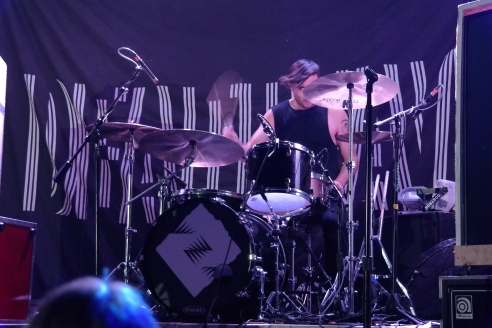 Deafheaven's indefatigable drummer Daniel Tracy laid down walls of intricate and powerful percussion patterns.